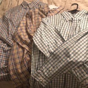Lot of 3 Orvis Shirts XL and 2 XLT